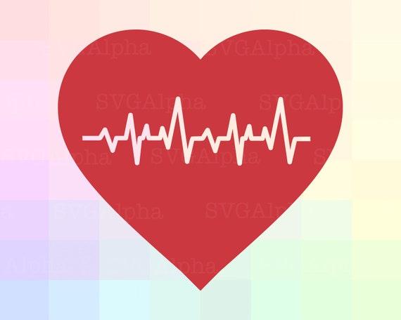 Schlagen Herz SVG-Datei Herzschlag Clipart schlagen Herz ...