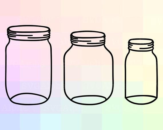 Mason jar clipart set  hand drawn mason jar clipart  mason jar SVG EPS DXF Png  mason jar silhouette  commercial and personal use vector