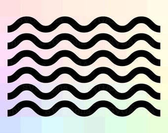 Wave SVG File, Wave Pattern Cricut SVG, Wave Dxf, Wave Cut File, Wave Cricut, Wave Clipart, Wave Silhouette, Wave Cutting File, Wave Png