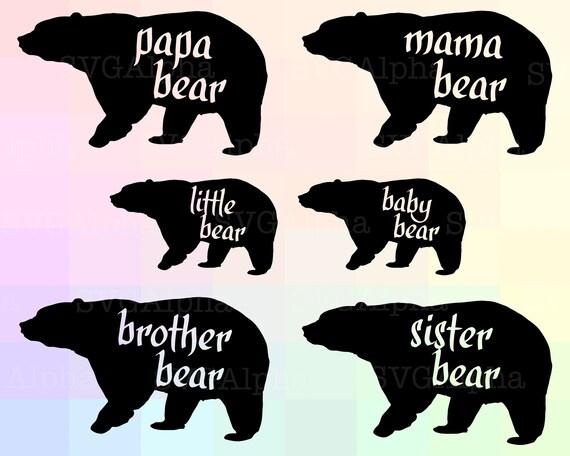 bear tribe cricut bear tribe svg bear family silhouette etsy