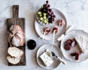Cheese and Wine Styled Stock Photo. Food Styled Stock Photography.