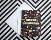 Birthday Card | Scrabble & Sweets | Quirky Card
