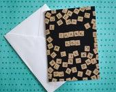 Thank You Card | Scrabble...