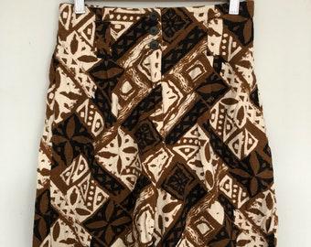 90s Berumda shorts -- batik linen/cotton