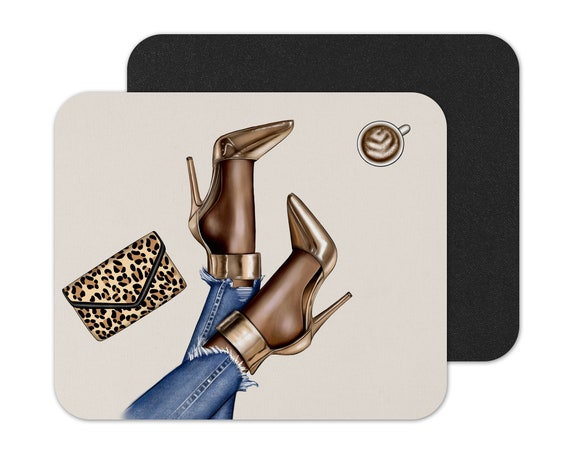 Mouse Pad Afrocentric Mouse Pad Custom Mouse Pad Tea Black Woman Mouse Pad Black Woman Afro Woman