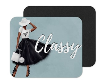 Afrocentric Mouse Pad, Black Woman, Afro Woman, Mouse Pad, Tea, Black Woman Mouse Pad, Custom Mouse Pad