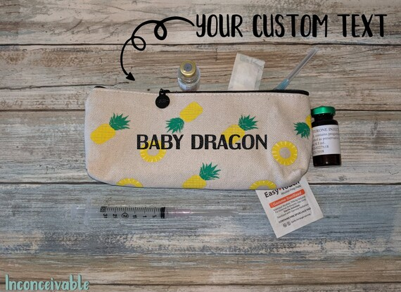 Personalized Pineapple Bag Infertility Etsy