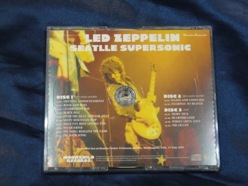Led Zeppelin Seattle Supersonic 3CD Moonchild Records