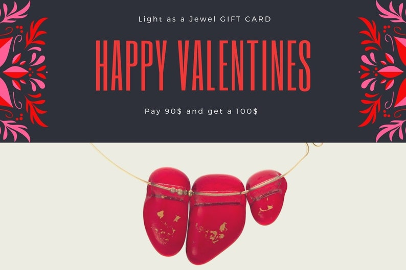 100 USD Valentine Gift Card for Ronit Yekutiely Artist shop