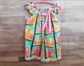 All cotton Owl Print Romper with Shorts size 4T