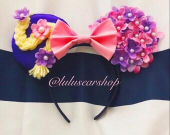 Rapunzel Floral Minnie Mouse Ears