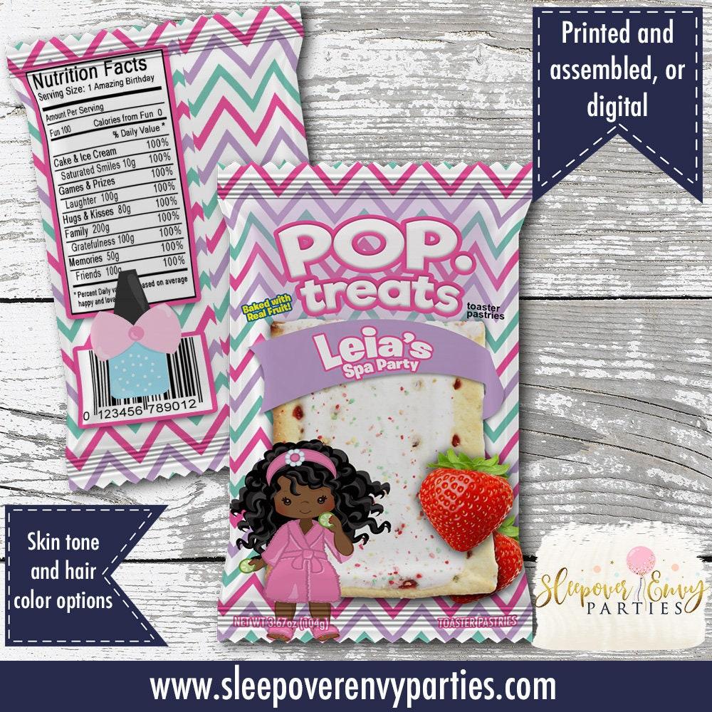 Spa Themed Pop Tarts Party Tart Favors Custom