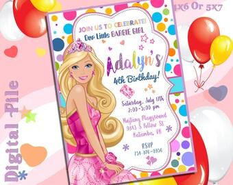 Barbie InvitationBarbie BirthdayBarbie PartyBarbie PrintableBarbie Girl Party SuppliesPrincess SAR6