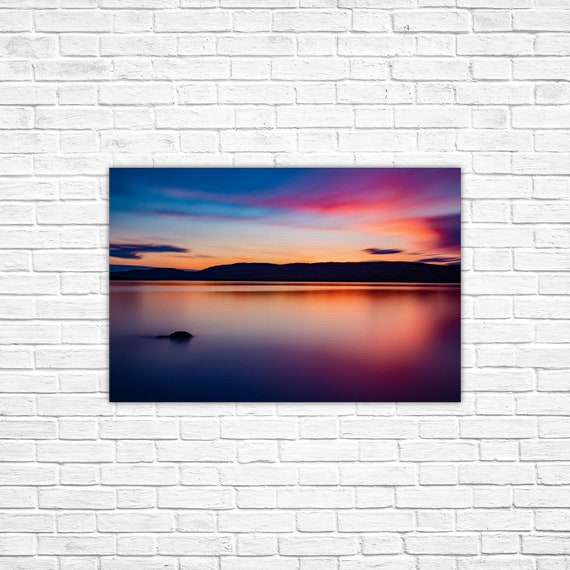 Panoramic Wall Art Arctic Sunset Salluit Stretched Canvas Etsy