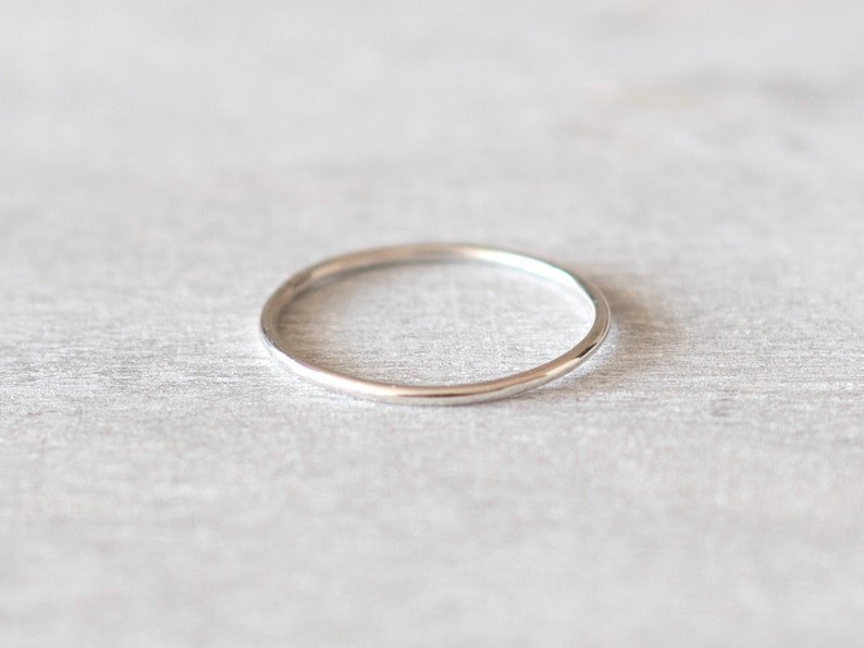 Super Thin Silver Midi Ring Dainty Silver Ring Sterling Silver Knuckle Ring Thin Rings for Women