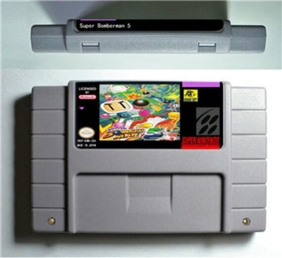 Cartucho super Nintendo-Bomberman 5