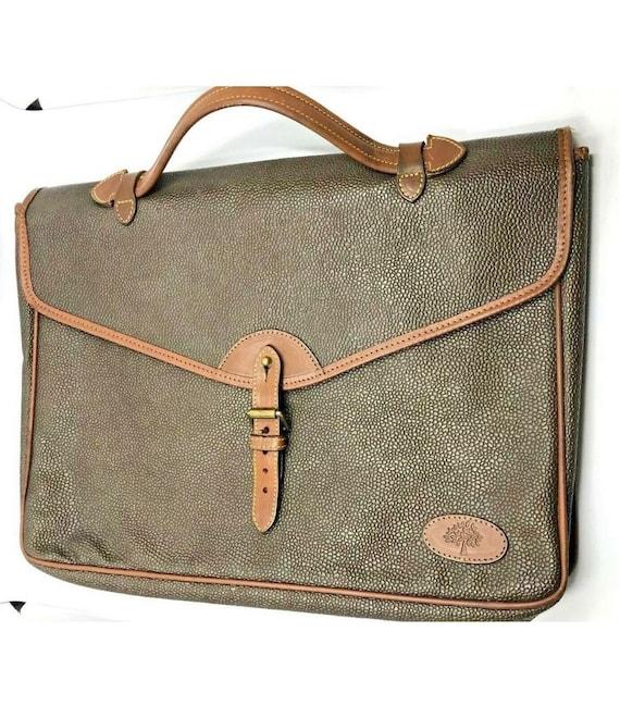 MULBERRY BAG SCOTCHGRAIN Cognac Leather Briefcase