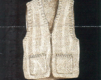 Double Strand Vest Digital Download Crochet Pattern