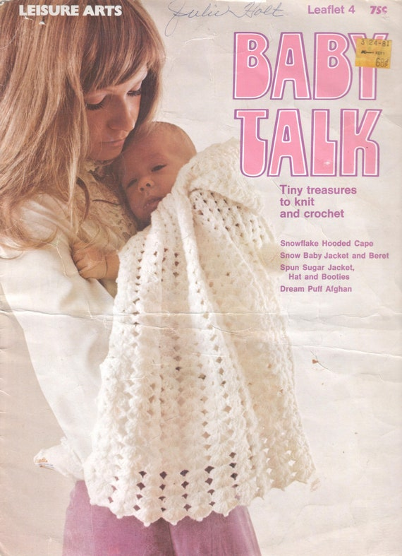 Vintage Baby Talk Knit And Crochet Patterns 4 In 1 Download Etsy