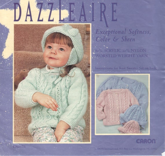 a101793cb Lace and Cable Baby Sweater Set Pattern