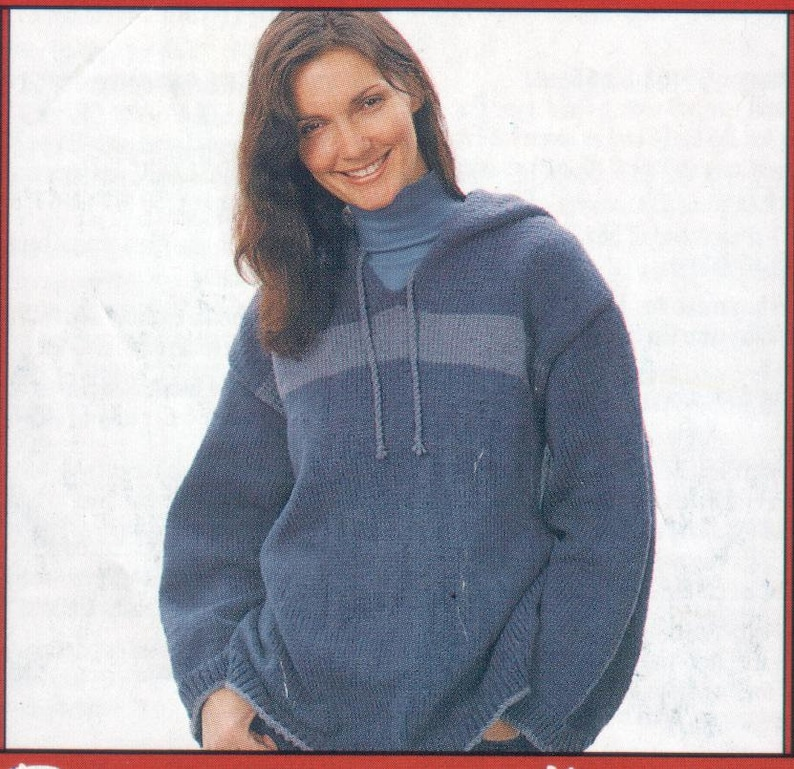 7db2536db Knit Hoodie Pattern Digital Download