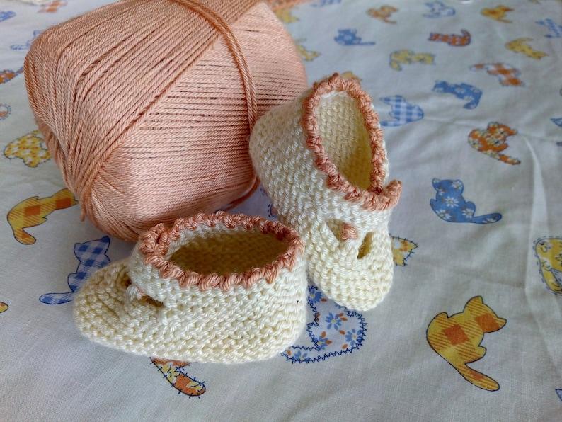 16d46888 Zapatos de bebe. Zapatos tejidos para bebe. Escarpines. | Etsy