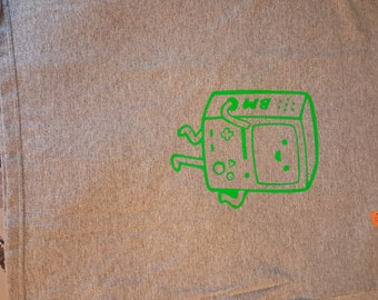Gray Youth Large Adventure Time BMO T-shirt