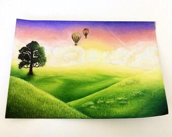 Sunrise Landscape Drawing (Norah)
