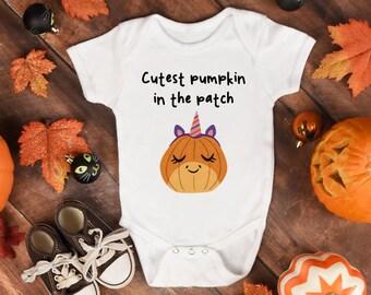 40d5b11a3 Baby Halloween Gift, Halloween Baby Grow, Halloween Baby Costume, Cutest  Pumpkin, Funny Halloween, Toddler Halloween Costume, Unicorn Gift