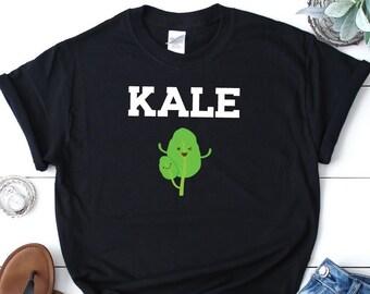 3e5be897 Women's Black Kale T Shirt, Kale Shirt, Kale TShirt, Vegan T Shirt, Vegan  Gifts, Vegan T-Shirt, Vegan TShirt, Kale Gift, Gifts For Vegans