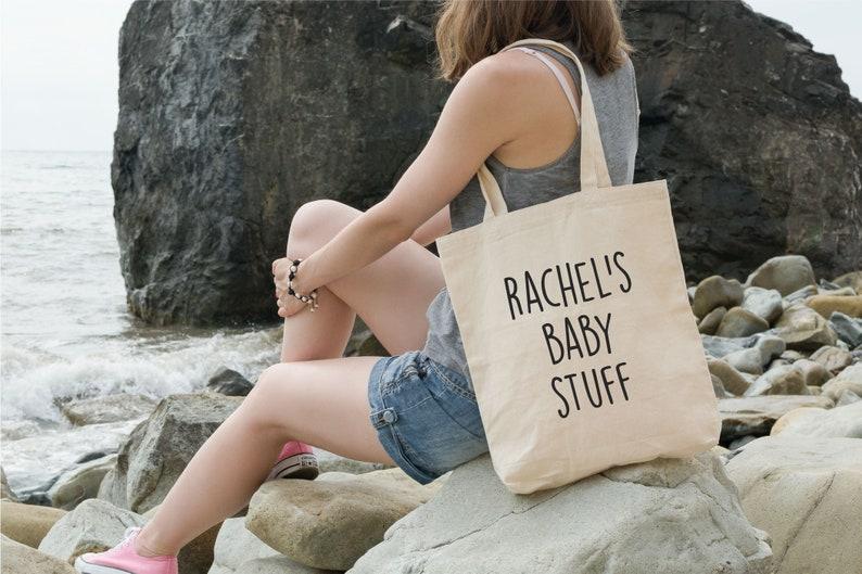 Personalised Canvas Bag Mom Gift Custom Baby Gift Baby Shower Gifts Custom Name Bag Personalized Tote Bag Mum Custom Baby Tote Bag