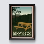 Brown County Indiana—State Park Poster