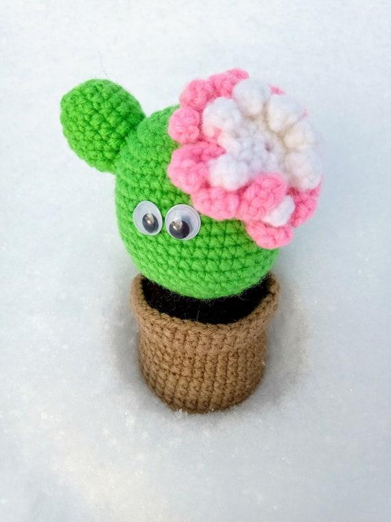 Amigurumi Mini Cactus Keychain Crochet Patterns - Crochet & Knitting | 760x570