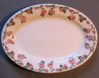 Sweet Basket Darling Pink Rosebud Garland Antique Aynsley Cake Basket