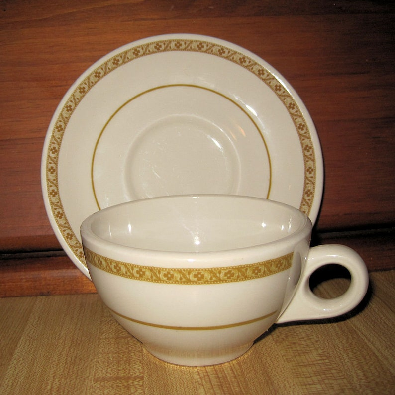 "Vintage SHENANGO CHINA Bowl White Rimmed Heavy RESTAURANT WARE Newcastle PA 6/"""