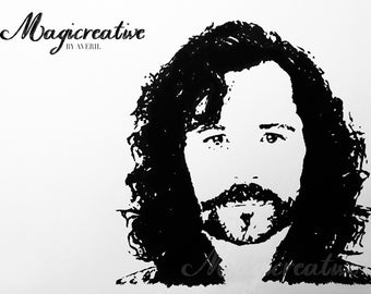 Sirius Black Portrait in ink - Harry Potter Collection