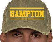 Hampton Distressed Ball Cap