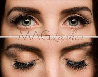 MAGLashes 3d Magnetic Eyelashes-high quality natural eyelash extension without adhesive for long, beautiful and full eyelashes