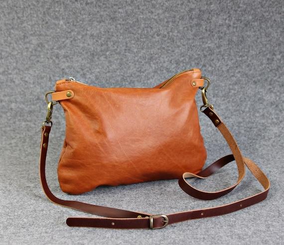 Rustic Crossbody bag Distressed Leather Leather crossbody   Etsy 1e797f44cb