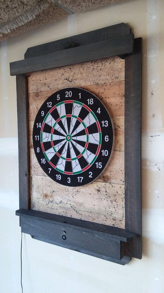 Darts Board Cabinet Dartboard Backboard Darts Storage In The Etsy