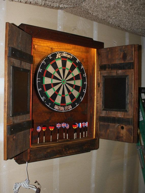Dartboard Cabinet Light Led Darts Board Throw Line Laser Etsy