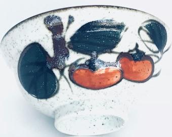 Vintage Italian Hand Painted Stoneware Bowl