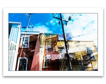 Alley in Montreal, photography fine art, large format print on Hahnemühle fine art, archival quality