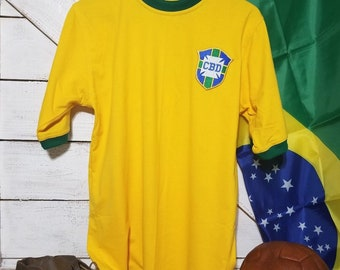 31fe3de0a Brazil 1970 World Cup Jersey Pele #10