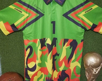 1becdc125 Mexico Retro Vintage Jorge Campos  1 Goalkeeper Jersey