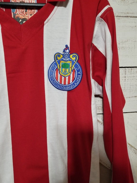 sports shoes c55db 7ca98 Club Guadalajara Chivas Jersey 1960's Campeonisimo Retro Jersey LONG-SLEEVE