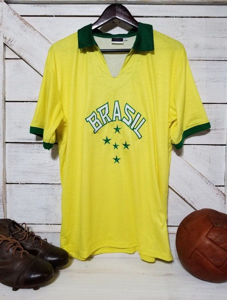BRAZIL 1958 Pele 10 Retro WORLD CUP Jersey Size  1d4616767