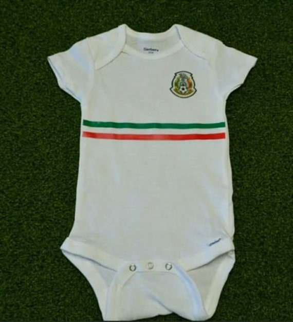 5d93f95d6 Mexico 2018 baby jersey Baby Jersey 6-9 months free baby name | Etsy