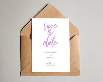 save the date tear off calendar post card digital file print etsy