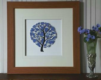 Framed Mosaic Tree Art